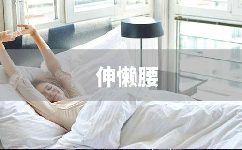 改善睡眠的动作之伸懒腰