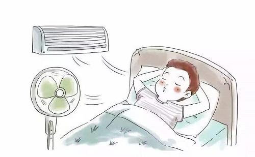 夏天睡觉要防寒
